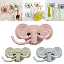 Cute elephant glue seamless hook bearing Seamless Adhesive Hook Waterproof  Strong Stick Kitchen Wall Hanger GHMY