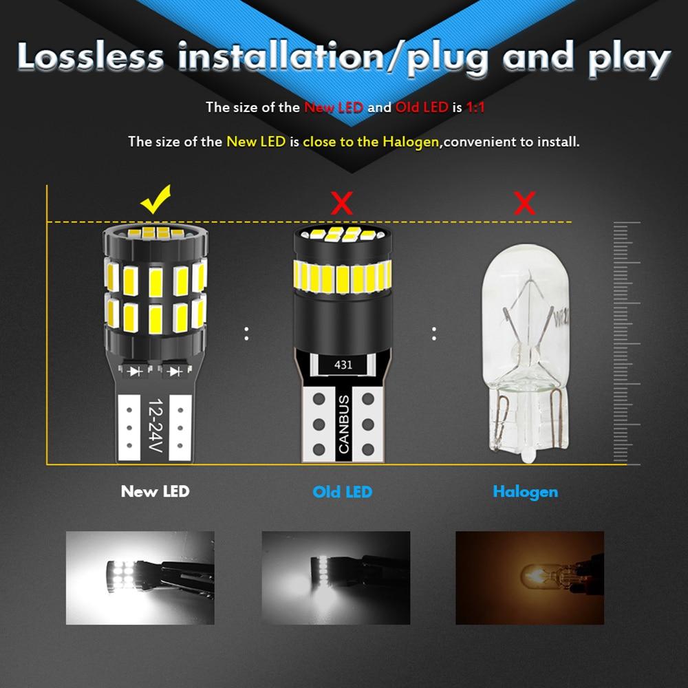 Image 2 - 10pcs T10 LED Canbus Bulbs For BMW E90 E60 White 168 501 W5W LED Lamp Wedge Car Interior Lights 12V 6000K Red Amber yellow BlueSignal Lamp   -