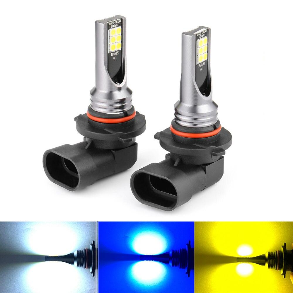 ASLENT 2 шт. H8 H11 Led HB4 9006 HB3 9005 H7 Противотуманные фары лампы автомобиля, вождения, бега, лампа luces para nebbia 3000K 12V 24V