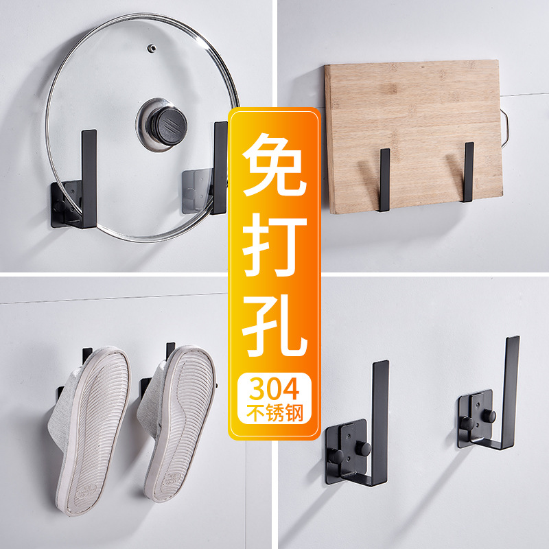 Wholesale Pot Cover Holder Hole Punched 304 Stainless Steel Kitchen Cutting Board Storage Household Put Cutting Board Of Shelf