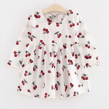 Spring Autumn Girl Dress Kids Children Gown Girls Long Sleeve Plaid Robe Soft Cotton Summer Princess Dresses Baby Girls Clothes(China)