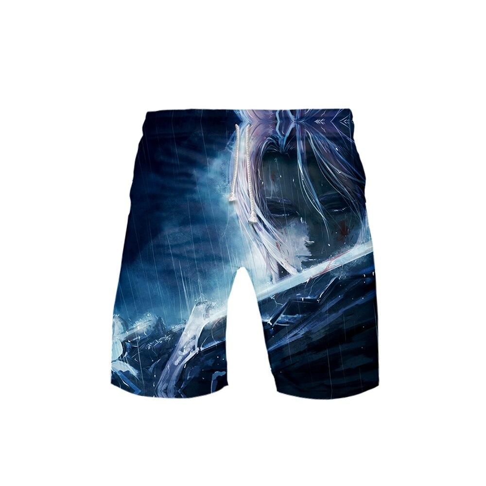 Men's 3D The Seven Deadly Sins Shorts 3D Board Trunks 2019 Summer New Quick Dry Men Hip Hop Short Pants Beach Wear Streetwear