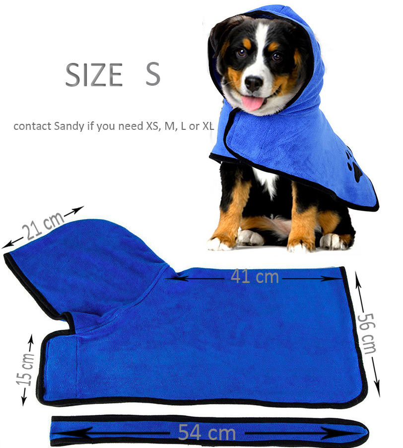 Cute Pet Dog Cat Towel Pets Drying Bath Towels with Hoodies Warm Blanket Soft Drying Cartoon Puppy Super Absorbent Bathrobes 17