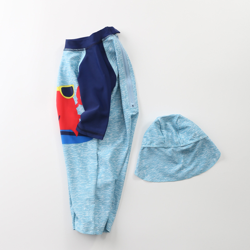 KID'S Swimwear BOY'S One-piece 2019 New Style Male Baby Swimwear Cute Sunglasses Crab Beach Sun-resistant Tour Bathing Suit