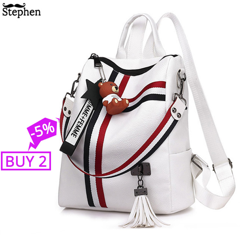 2018 Women Tassel Backpack Youth Travel Female Rucksack School Bag For Girl Shoulder Bag Bagpack Sac A Dos Femme Bagpack Mochila