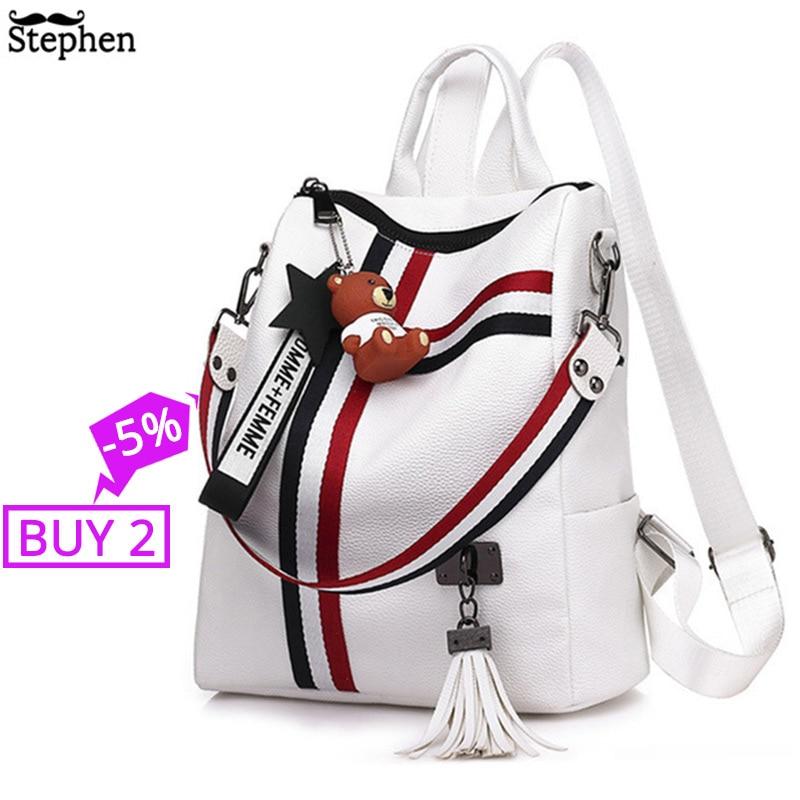 2020 Women Tassel Backpack Youth Travel Female Rucksack School Bag For Girl Shoulder Bag Bagpack Sac A Dos Femme Bagpack Mochila