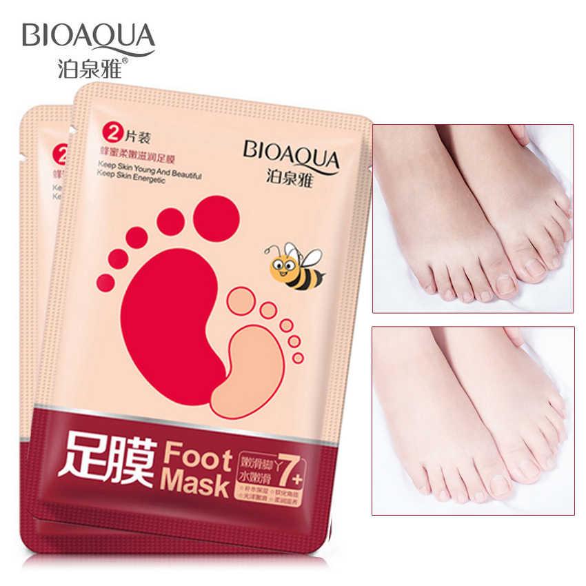Exfoliating Peeling Foot Mask Foot Skin Care Dead Skin Remover Smooth Energetic Socks Pedicure Body Born Feet Mask 2 Pair
