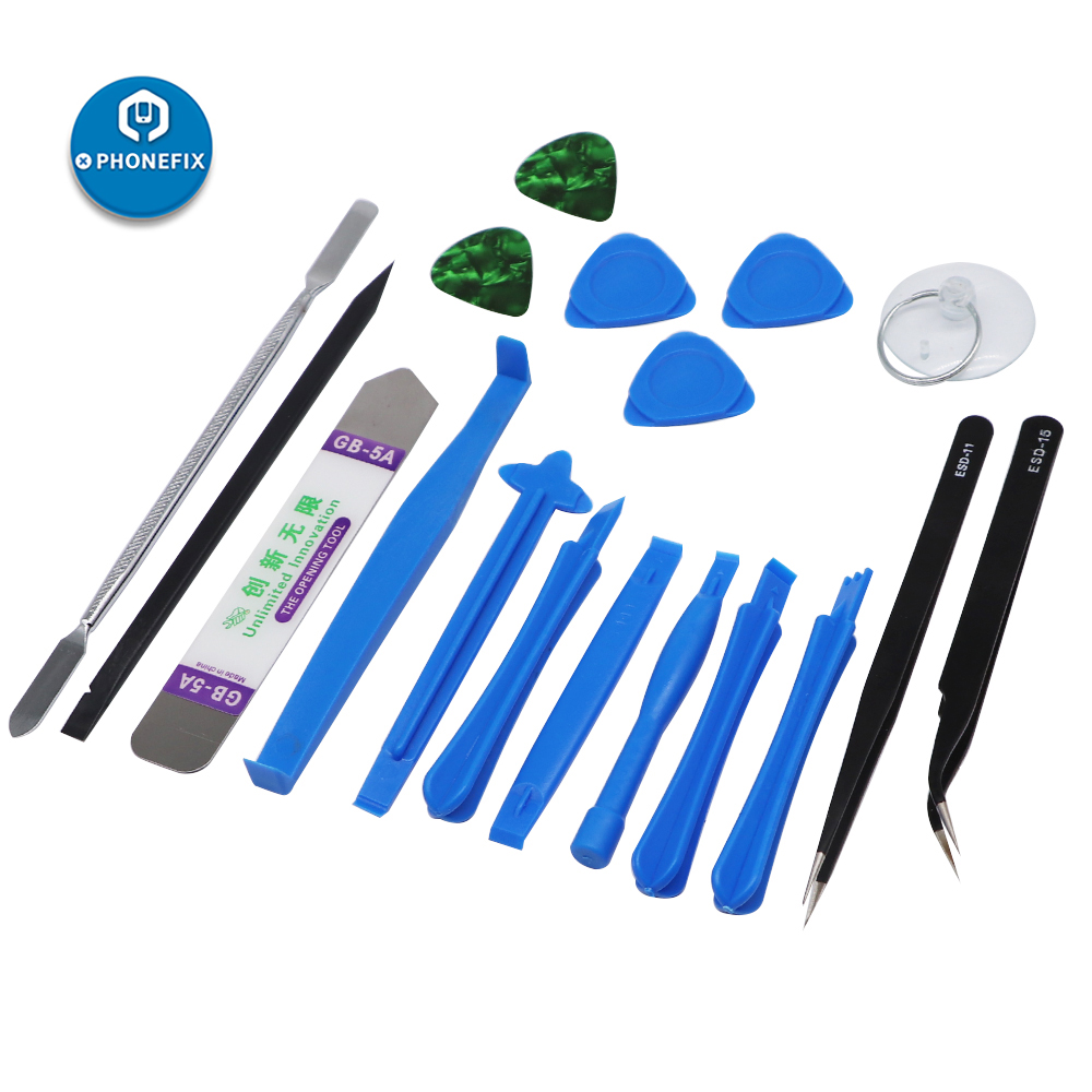 18 in 1 Multi Opening Tools Kit Phone Screen Repair Spudger Pry Tool for iPhone 11 pro X XS MAX Cellphone Laptop iPad Tool Set