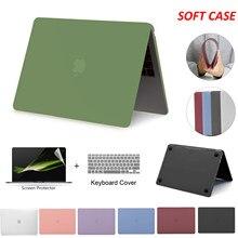 Macio para macbook pro 13 caso do portátil funda macbook air 13 caso 2020 m1 chip pro 13 pro 16 Polegada caso 2020 15 Polegada acessórios