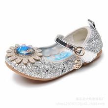 Disney Frozen Crystal Shoes For Baby Girls Children's Dance non slip Soft Soled Princess Shoes Cartoon Elsa Shoes Girls Sandals
