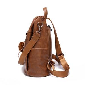 Image 2 - ZMQN Backpack Women 2020 Anti Theft Backpack Mochila Feminina Vintage Bagpack School Leather Bags For Womens Back Pack C131