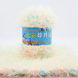 50 г/шарик, длинная плюшевая пряжа для вязания крючком, мягкая, толстая, ручная вязка из норки, бархатная пряжа молочного оттенка для свитера, одеяло, шапка