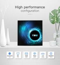 Android 10.0 TV Box 4GB di RAM 32GB 64GB di ROM Set Top Box T95 Allwinner H616 6K @ 30fps HD Cortex A53 Smart Media Player HDMI 2.0