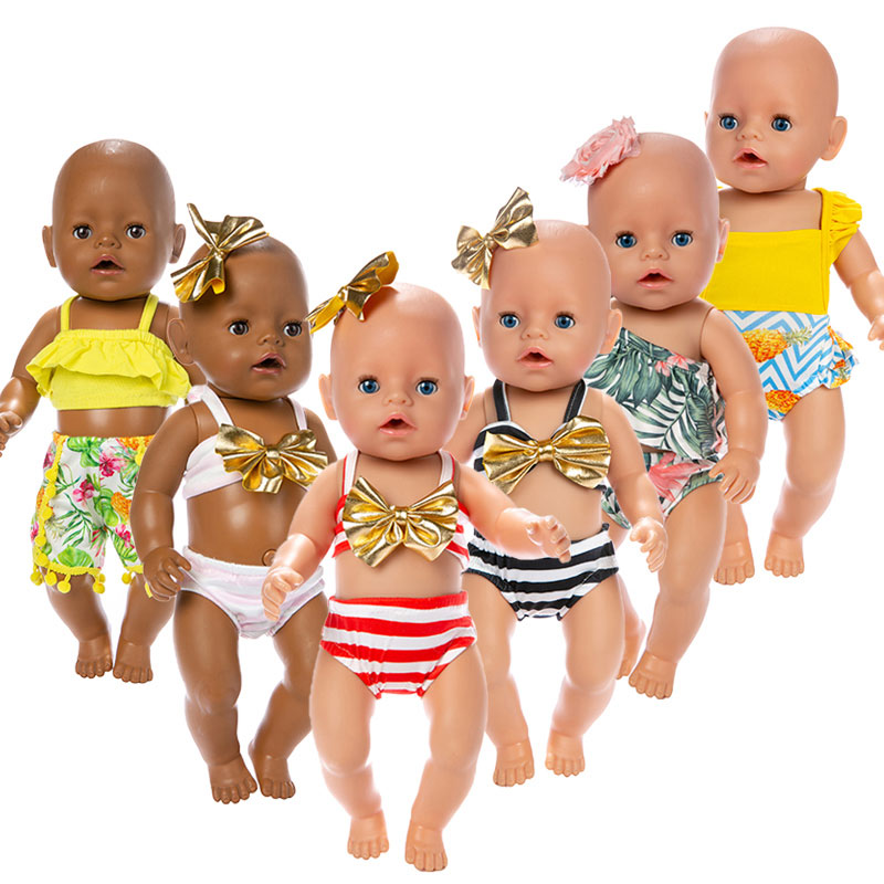 2019 New Lovely Bikini Clothes Fit For 43 Cm Baby Doll 17inch Reborn Doll Accessories