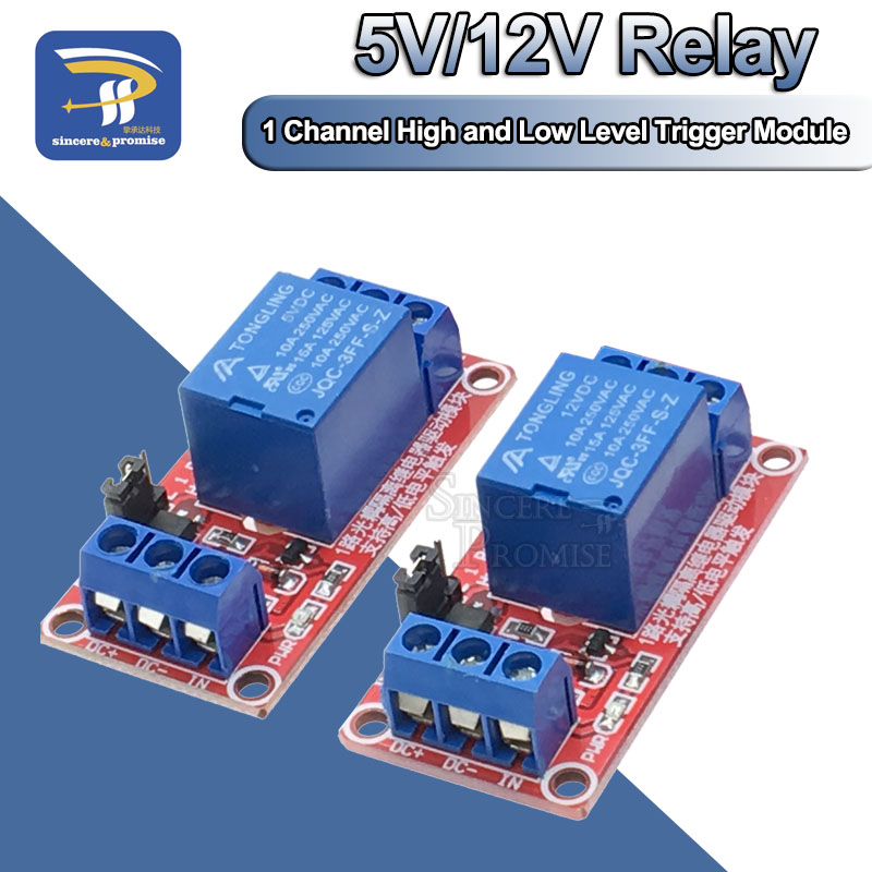 One 1 Channel 5V 12V Relay Module Board Shield for Arduino with Optocoupler Support High and Low Level Trigger(China)