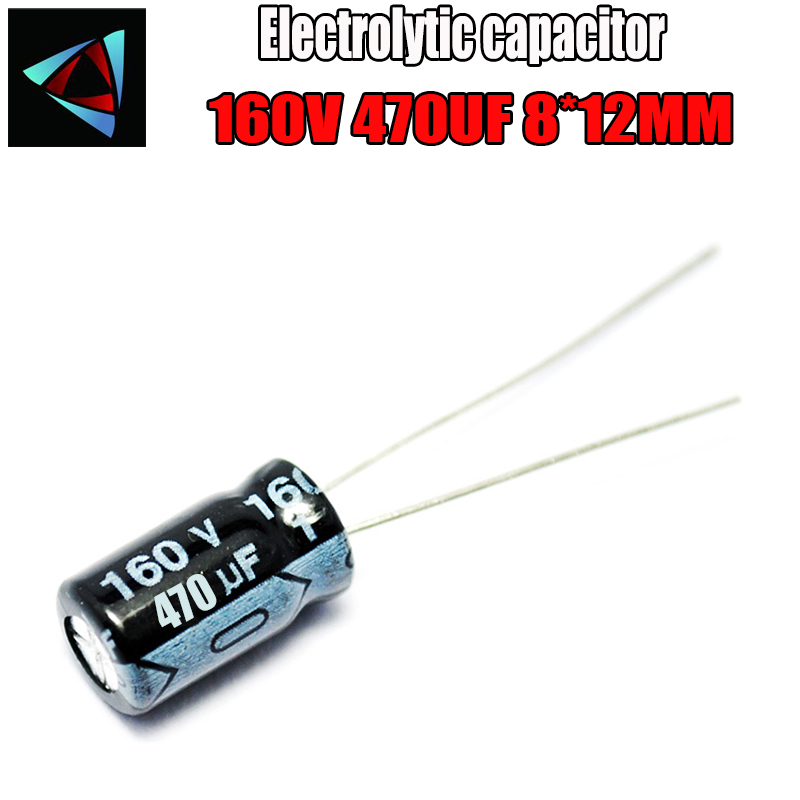12PCS Higt Quality 160V 470UF 8*12mm 470UF 160V 8*12 Electrolytic Capacitor