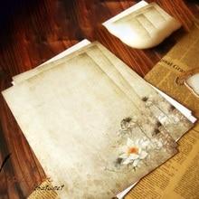 Letter Paper Stationery Vintage 8pcs/Lot Office-Supplies Lotus School