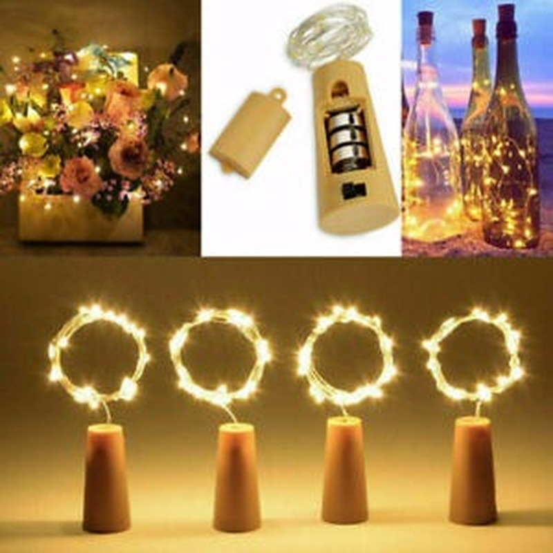 10-20 LED Cork Lights On A String, Bottle Stopper Fairy Lights For Wedding Xmas
