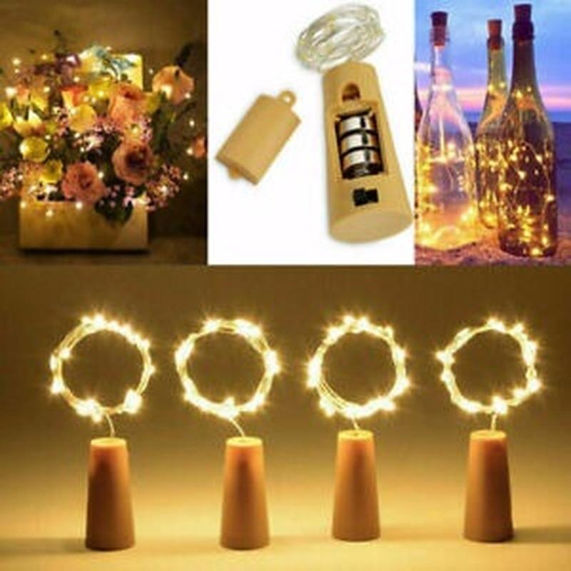 10-20 LED Cork Lights On A String, Bottle Stopper Fairy Lights For Wedding Xmas