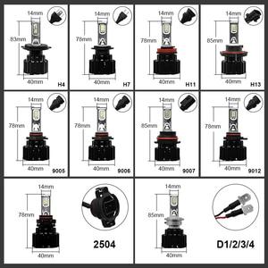 Image 5 - Eurs P9 led H4 H7 led 車のヘッドライト電球 100 ワット hi/lo ビーム H11 H8 H9 HB4 自動 led ヘッドライト H13 フォグライト D2S D4S hid 電球 13600LM