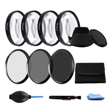 62 MM Macro Close-Up Filter +1+2+4+10 Set +ND2 4 8 Camera Lens Filter+Hood for Canon Nikon Sony(China)