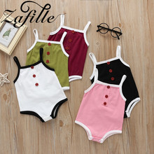 ZAFILLE 2020 Summer Cotton Baby Romper Newborn Solid Baby Girl Clothes Sleeveless Girls Clothing Infant Kid Clothes Ropa De Bebe cute baby girls flower princess sleeveless dress sundress for newborn baby girl infant children clothes kid clothing summer