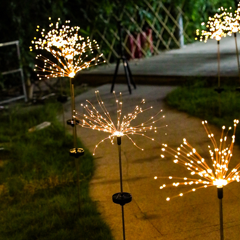 Waterproof Outdoor Led Solar Firework Lights 150Leds Flash Fairy String Lights For Garden Lawn Patio Christmas <font><b>Holiday</b></font> <font><b>Decor</b></font> image