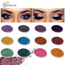 NICEFACE 45 цветов один кусочек блестки пудра для век Блеск Алмазный тени для век лазерный порошок 25-45 цветов
