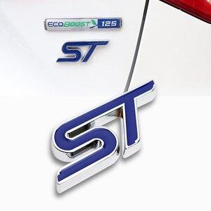 Автомобильный Стайлинг 3D S логотип ST металлические наклейки автомобильный передний Гриль значок кузова Эмблема для Ford Focus 2 3 Fiesta Ranger, Fusion Mondeo...