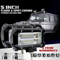 2PCS 5inch 72W 6500K LED Work Light for Driving Fog Lamp Offroad Truck SUV|LED Downlights| |  -