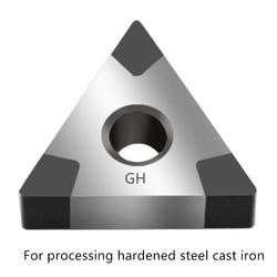 CBN insertar TNMG tntnmg 160408 Cnmg120404 herramientas de torneado de metal cortador de torno para procesar hierro fundido de acero endurecido