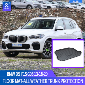 Image 1 - For BMW F15 G05 X5 2013 2014 2015 2016 2017 2018 2019 2020 Trunk mat Black Waterproof Durable Floor Mats Protection Cargo Liner
