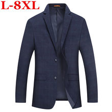Plus size 8XL 7XL Mens Korean slim fit fashion cotton blazer Suit Jacket Male blazers Mens coat Wedding Big large size 5XL 4XL(China)