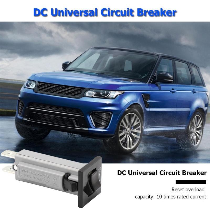 15 Amp Circuit Breaker Protector 120V//240V AC 50V DC Rocker Reset for Car