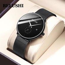 Belushi Man Watch 2019 Luxury Brand Stainless Steel Quartz Watch