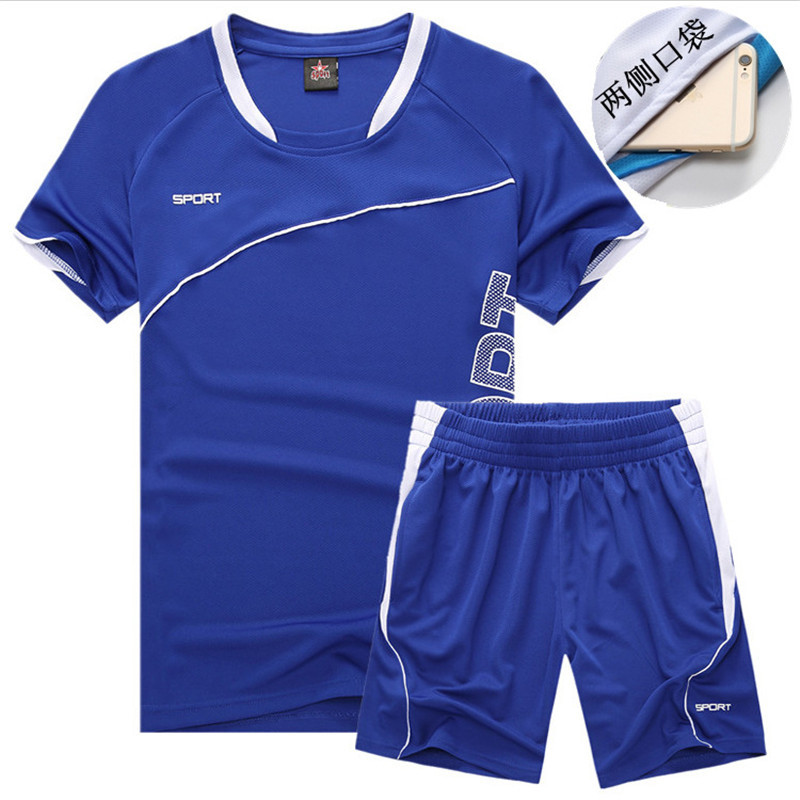 Sports Set Men's Summer Jogging Suits Gym Short Sleeve Shorts Two Pieces Quick-Dry Summer Athletic Clothing
