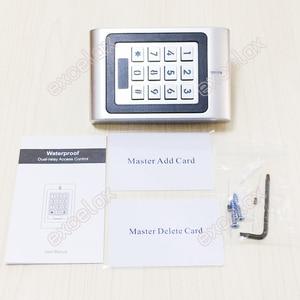 Image 5 - 2 Doors Dual Relay AC DC 12V 28V Waterproof Access Control Keypad IP66 Outdoor RFID 125KHz EM Card Reader Electronic Lock Opener