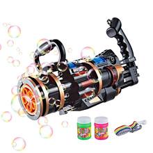 Elektryczna maszyna do baniek mydlanych pięć otworów ogromna ilość elektryczny automatyczny ekspres do baniek (120ml) dzieci zabawki na zewnątrz materiały ślubne tanie tanio CN (pochodzenie) MATERNITY W wieku 0-6m 7-12m 13-24m 25-36m 4-6y 7-12y 12 + y Z tworzywa sztucznego Pistolet wypuszczający bańki