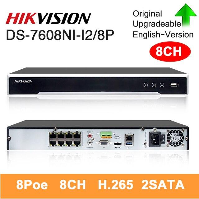 الأصلي هيكفيجن NVR DS 7608NI I2/8 P 4K شبكة مسجل فيديو 8CH 2SATA 8 PoE ميناء H.265 التوصيل والتشغيل nvr هيكفيجن ل CCTV