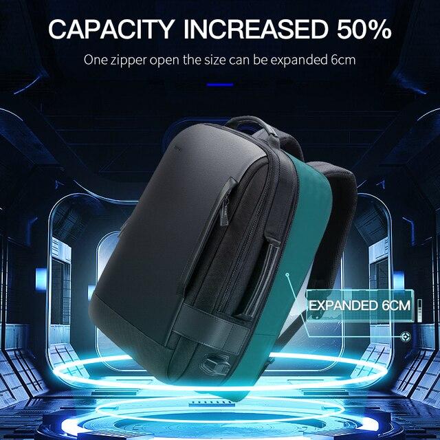 BOPAI Brand Enlarge Backpack USB External Charge 15.6 Inch Laptop Backpack Shoulders Men Anti-Theft Waterproof Travel Backpack 2