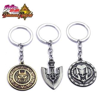 Anime jojo bizarre adventure arrow Higashikata Josuke Crazy Diamond Kira Yoshikage Cosplay Keychain Accessories Prop