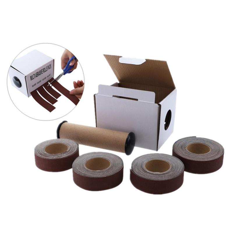 Free Ship®Polish-Tools Sandpaper Sand-Cloth Matte 1-Length-X-4 Belt-Box-Roll Root-Carving-Furniture