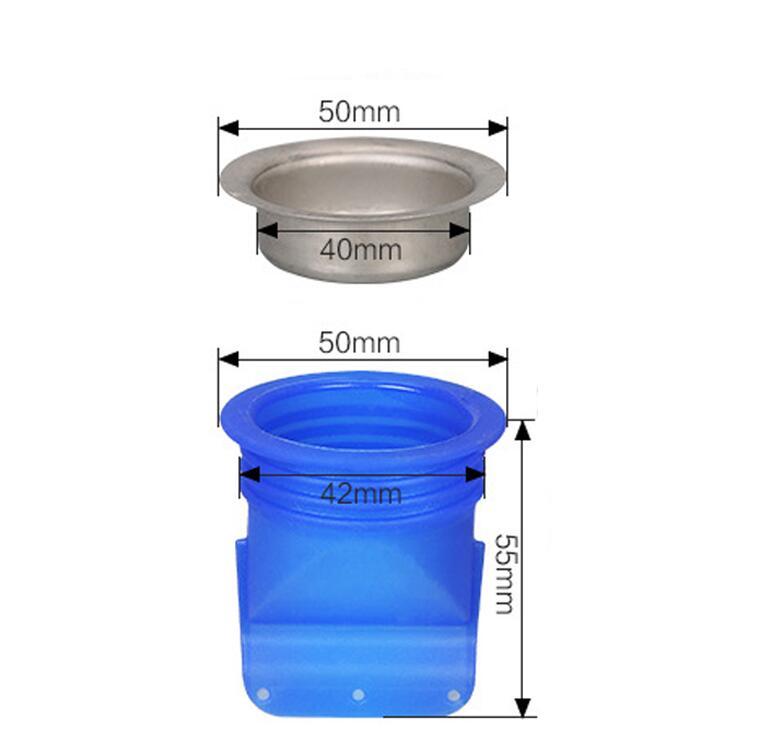 Домашний дренажный клапан, силиконовый кухонный фильтр, труба для ванной, канализационный слив, анти-запах, вредитель, пол из нержавеющей стали, слив HN27 - Цвет: HNS28  B