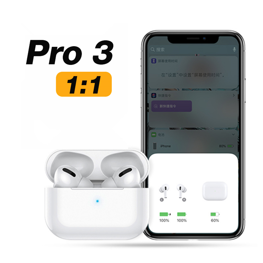 Airpodding Pro 3 Wireless Earphone Bluetooth Headphones Smart Touch Headset Aire Earbuds With Case For IPhone Android Pod Pro 3