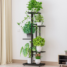 5-Tier Ladder Shelf,Storage Rack,Freestanding Bookshelf,Plant Stand with Steel Pipe and Shelves for Living Room,Bathroom,Kitchen