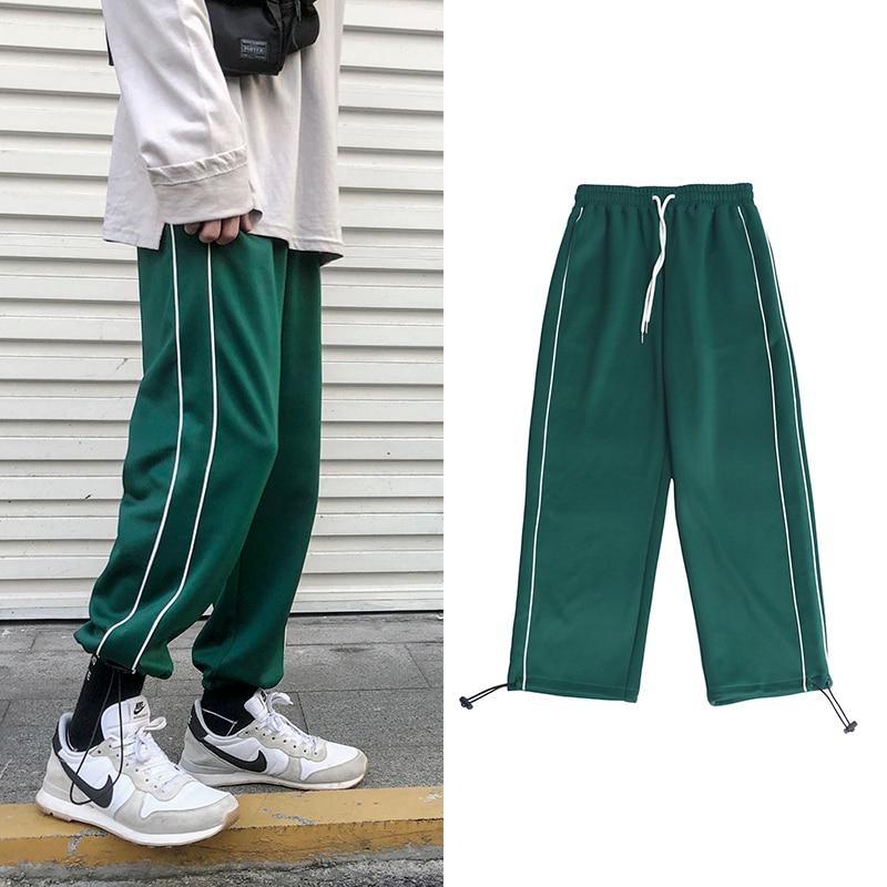 2019 Men's Printing Cotton Casual Pants Leisure Sports Pants Loose Trousers Active Elastic Hip Hop Green Joggers Sweatpants