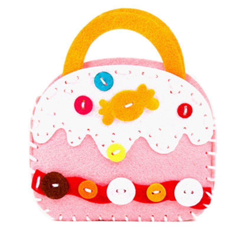 Children Early Childhood Educational Toy Kids Manual Cloth Bag Cute DIY Craft Kit Creative Handmade Materials