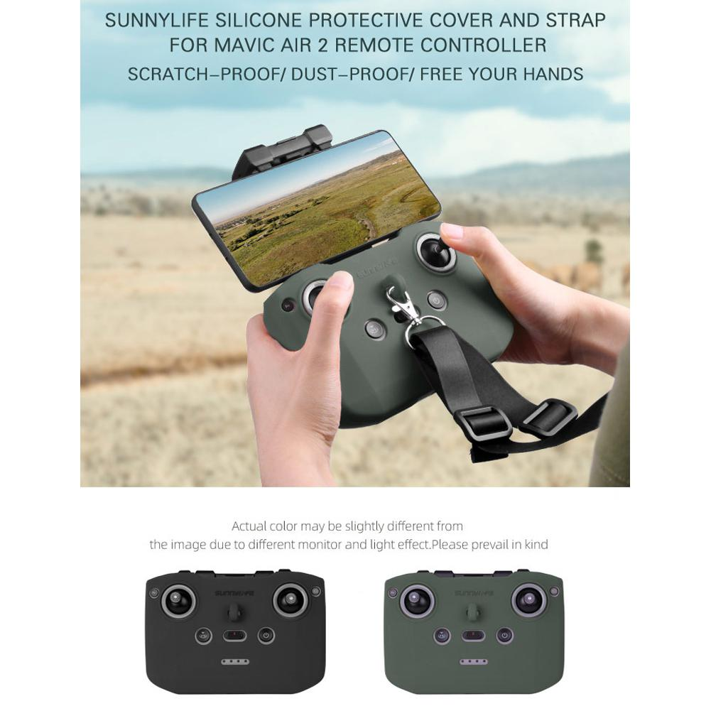 Silicone Protective Cover with Remote Controller Strap Protective Sleeve For DJI Mavic Air 2 Drone Accessories