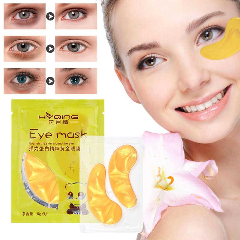 2 قطعة = 1 زوج Hot البيع الذهب كريستال الكولاجين قناع عين العين بقع العناية بالبشرة إزالة الهالات السوداء ، أكياس العين ، الترطيب TSLM1