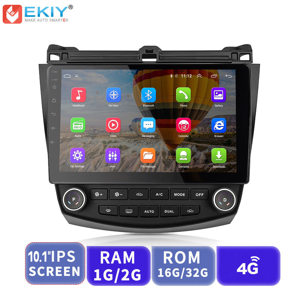 EKIY IPS 2.5D Auto DVD GPS Multimedia Player Android Auto <font><b>Radio</b></font> Für <font><b>Honda</b></font> <font><b>Accord</b></font> 7 <font><b>2003</b></font>-<font><b>2007</b></font> GPS Navigation stereo Video Audio image